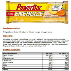 PowerBar New Energize Riegel Box Mango Tropical 25 x 55g